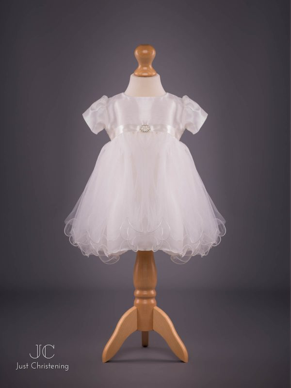 Ivory Christening Dress by Eva Rose Front