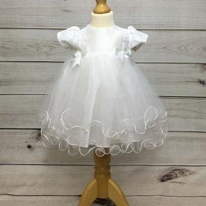Holly christening dress white