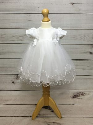 Holly christening dress white
