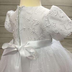 Isabelle white christening dress baby girl 3