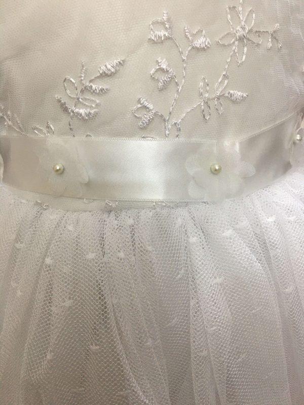 Isabelle white christening dress baby girl 4