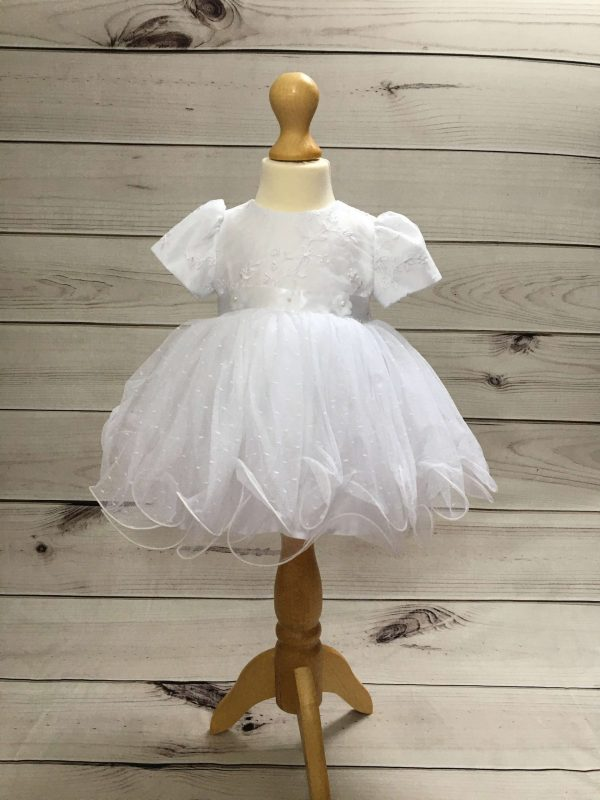 Isabelle white christening dress baby girl 6
