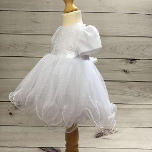 Isabelle white christening dress baby girl 7