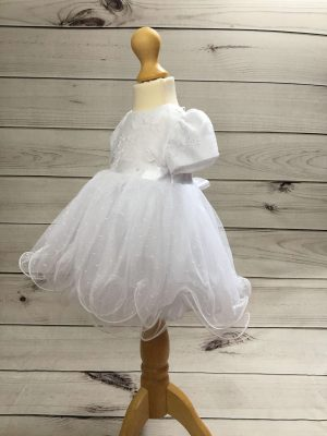Isabelle white christening dress baby girl 7