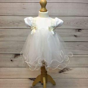 Lousie Ivory Bow Dress