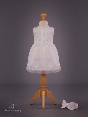 Mintini Baby Girls White Christening Dress 1