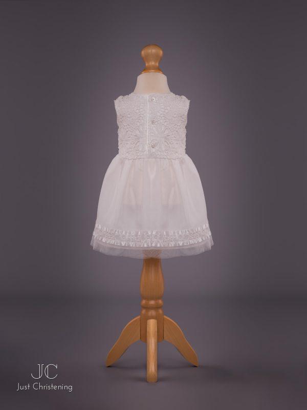 Mintini Baby Girls White Christening Dress 2