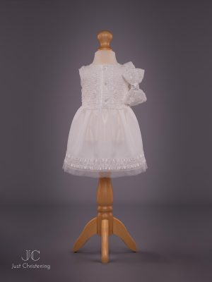 Mintini Baby Girls White Christening Dress 3