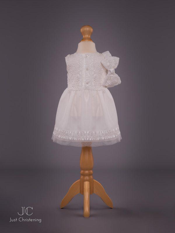 Mintini Baby Girls White Christening Dress 3