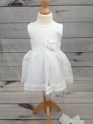 Mintini baby dress with headband