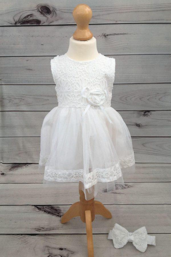 Mintini baby dress with headband
