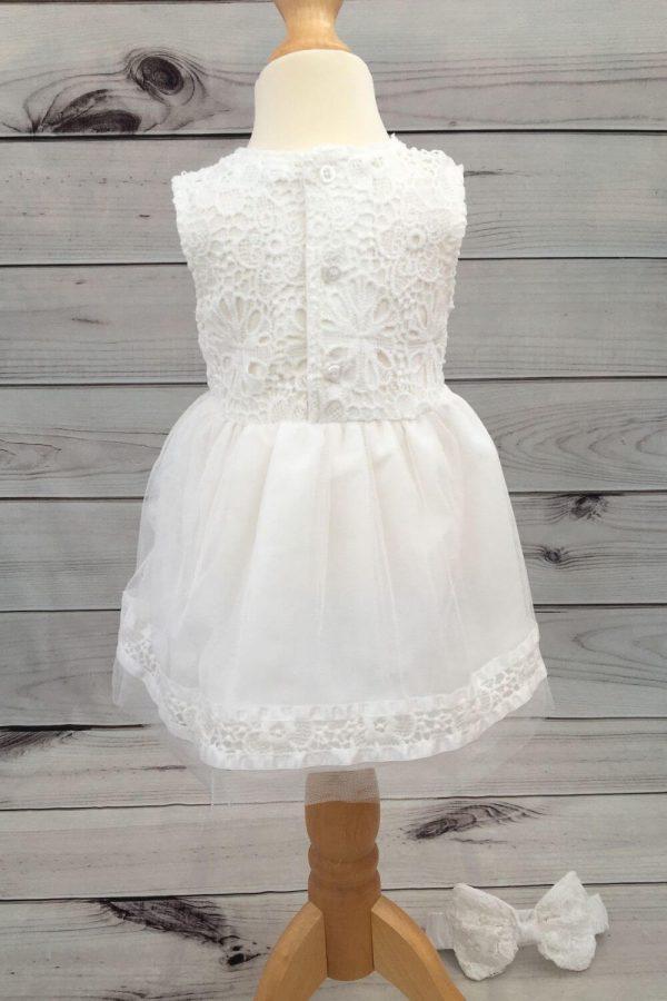 Mintini baby dress with headband 4