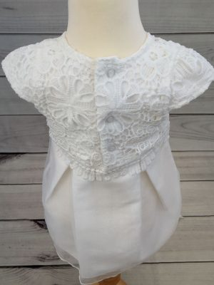 Mintini baby dress with headband 4