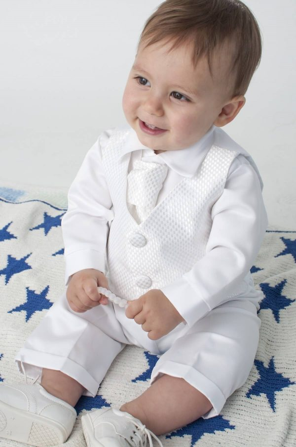 baby boy christening outfit cravat
