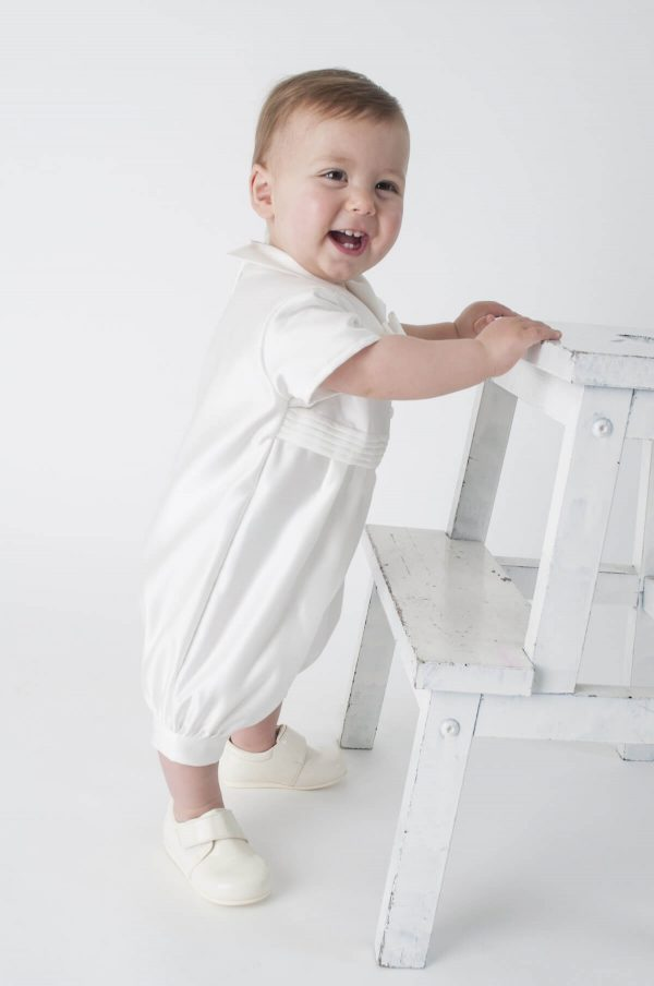 ivory christening romper outfit