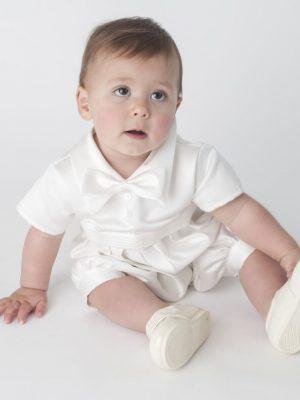 ivory christening romper toddler
