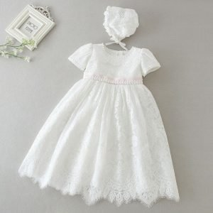Baby Girls Satin Christening Special Occasion UK Made Bonnet Hat Ivory or White