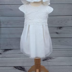 mintini dress with bonnet and knickers 1