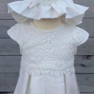 mintini dress with bonnet and knickers 2