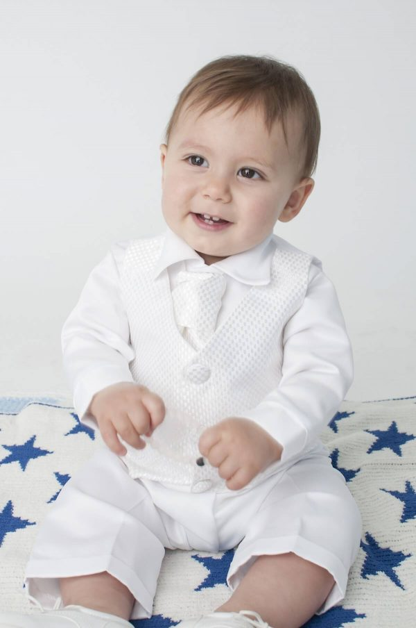 white baby suit