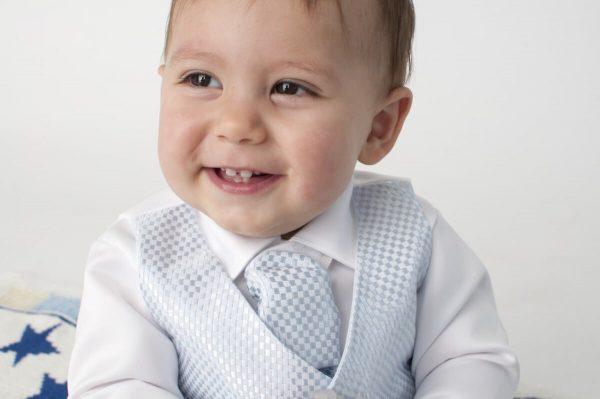 white blue suit close up