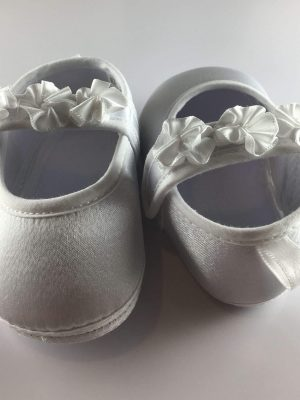 Baby Girls Flower Strap First Shoes back front