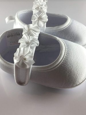 Baby Girls Flower Strap First Shoes side