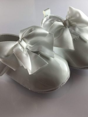 Baby Girls Patent White Occasion Shoes side