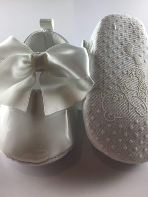 Baby Girls Patent White Occasion Shoes sole