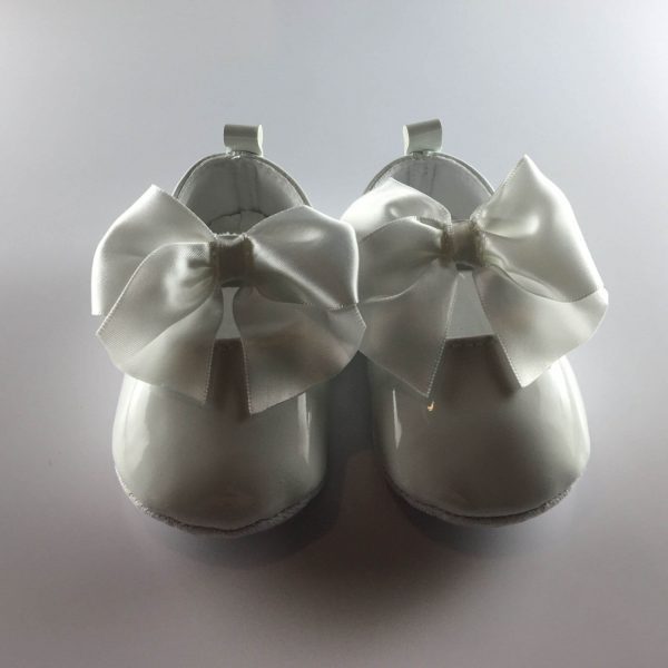 Baby Girls Patent White Occasion Shoes zoom out