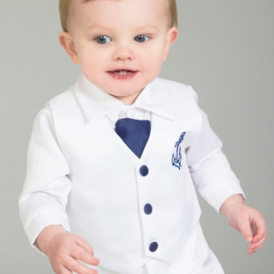 Boys sailor christening outfit navy white 2