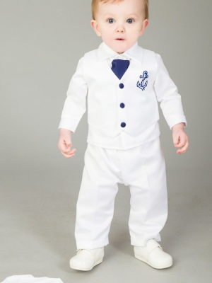 Boys sailor christening outfit navy white 4