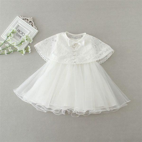 Ella vintage style 3 piece christening dress 2