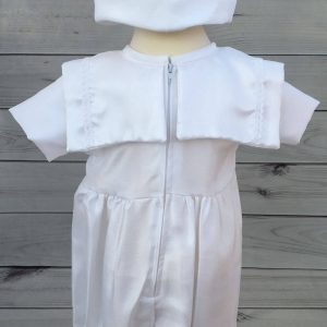 'Jacob' Boys White Christening Sailor Romper back