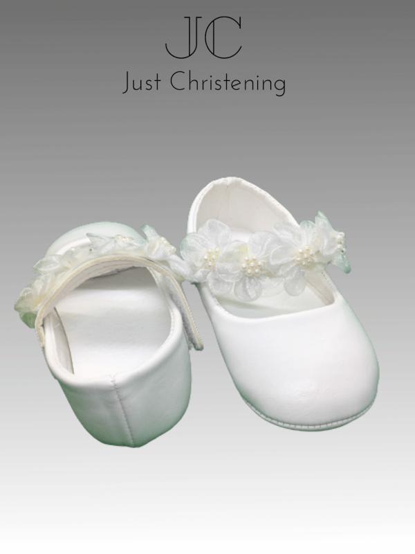 flower strap shoes christening