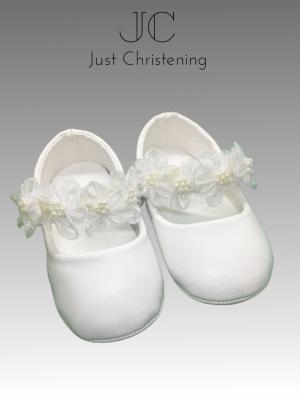 flower strap shoes girls baby christening