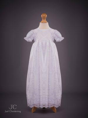 Ann Girls White embroidered Christening