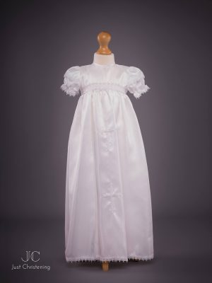 Girls White Cross Christening Gown-2