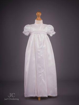 Girls White Cross Christening Gown-2