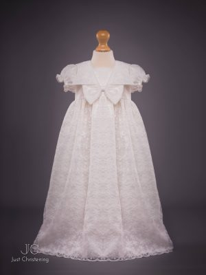 Juliette Ivory lace christening dress gown