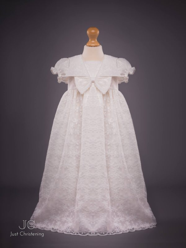 Juliette Ivory lace christening dress gown