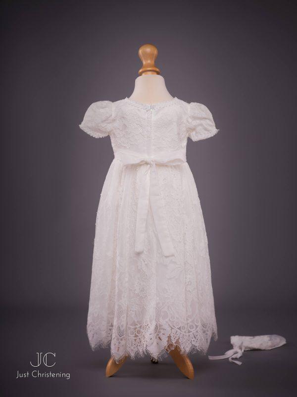 Michelle baby Christening dress bonnet back 2