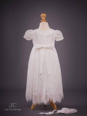 Michelle baby Christening dress bonnet back