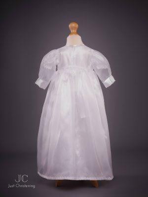 flower sheer christening dress