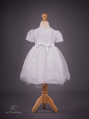 isabelle white christening dress back