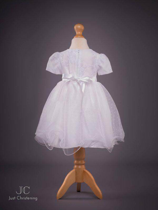 isabelle white christening dress back