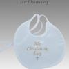 ivory christening bib
