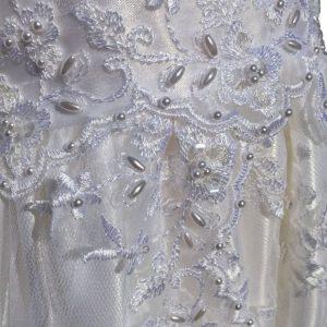 lauren christening gown sequin detail