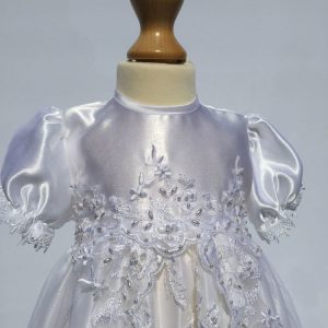 lauren christening gown top