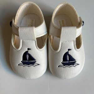 Boys sailor christening shoes